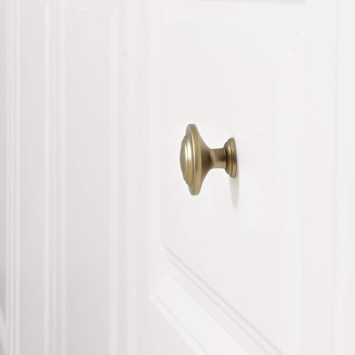 Basics color dorado champ/án 3,17 cm de di/ámetro Pomo de armario superior 25 unidades estilo tradicional