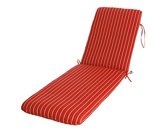 Chaise Replacement Cushions (Phat Tommy Sunbrella Outdoor Chaise Lounge Cushion –  Patio Furniture Replacement Cover-Clearance, Crimson)