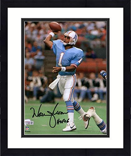 Framed Warren Moon Houston Oilers Autographed 8