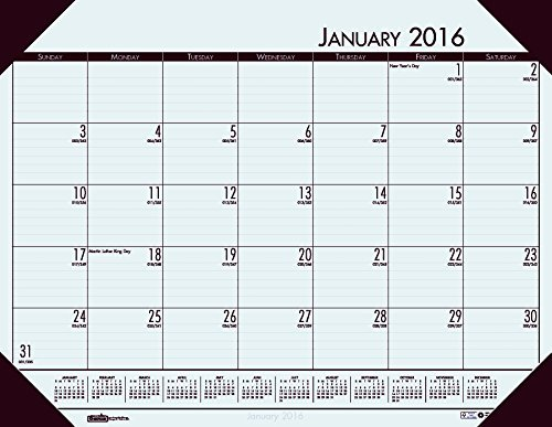 House of Doolittle 2016 Monthly Desk Pad Calendar, EcoTones, Gray Paper, 22 x 17 Inches (HOD12442-16) by House of Doolittle (Desk Calendar Monthly Ecotones Pad)