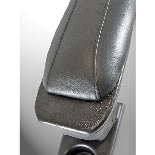 Accoudoir central noir en simili cuir avec Compartiment de Rangement