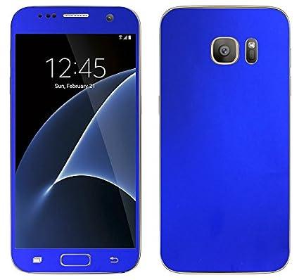 SLICKWRAPS Samsung Galaxy S7 Edge Blue Electroplating