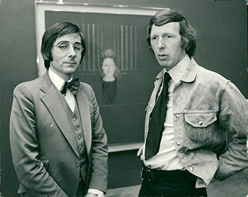 Vintage photo of Bryan Organ with Dr Roy Strong at the National Portrait Gallery