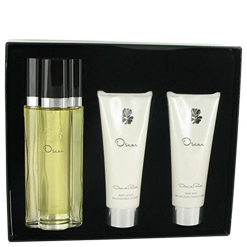 OSCAR by Oscar de la Renta Gift Set -- 3.4 oz Eau De Toilette Spray + 3.4 oz Body Lotion + 3.4 oz Shower Gel for Women (Oscar Shower Gel)