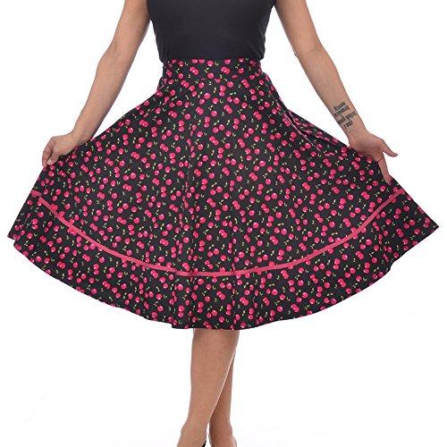 Steady-Clothing-Plus-Retro-Vintage-Cherry-Cherry-Juicy-Fruit-Print-Swing-Skirt