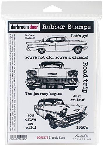 Darkroom Door Cling Stamps 7''X5''-Classic Cars by Darkroom Door