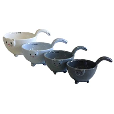 Ceramic Cat Measuring Cups/Baking Bowls