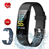 Fitness Tracker Semaco, Fitness Watch Waterproof with Heart Rate Monitor Activity Tracker Smart Wristband Band with Pedometer Sleep Monitor Step Calorie Counter Smart Watch for KidsWomen Men