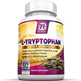 BRI Nutrition L-Tryptophan - 1500mg Servings - 60 Count of L Tryptophan - 500 mg per Capsule
