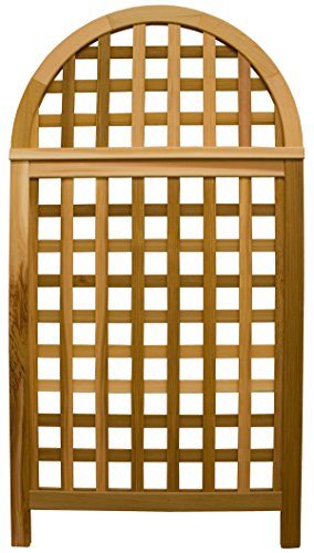 - Arboria Andover Arch Landscape Privacy Screen Trellis Cedar Wood Over 5.5 Ft High With Lattice Design