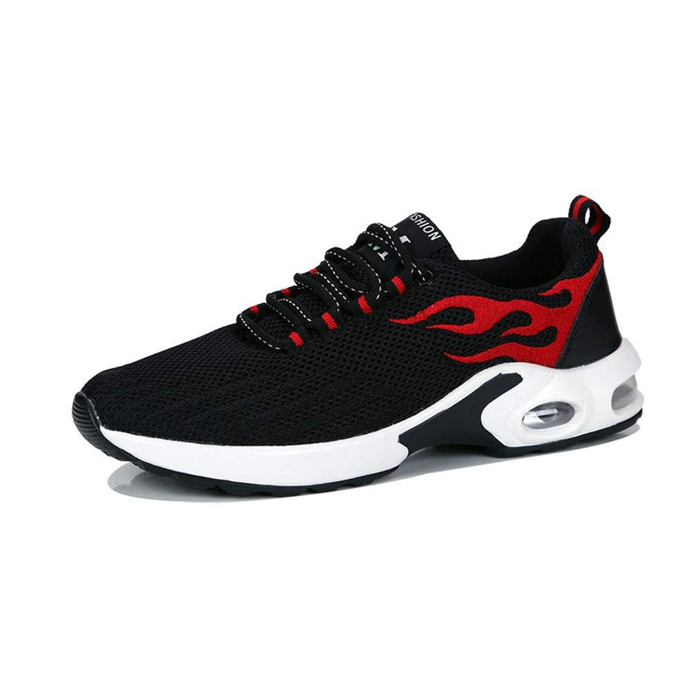 GoldGOD Sportschuhe Männer Fliegen Laufschuhe Gewebte Lässige Schuhe Luftkissen Erhöht Damenschuhe Laufschuhe Fliegen Atmungsaktive Paar Schuhe,rot,40UK f72656