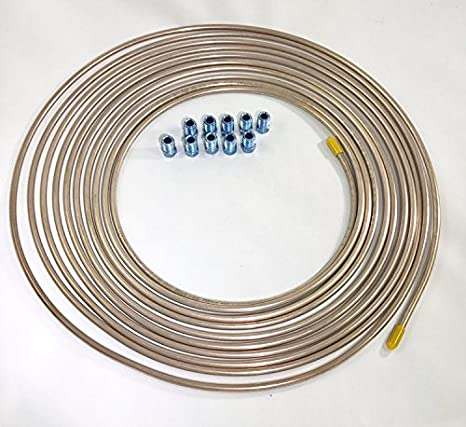 3 16 Brake Line >> Amazon Com 25 Ft Copper Nickel 3 16 Brake Line Tubing W Metric