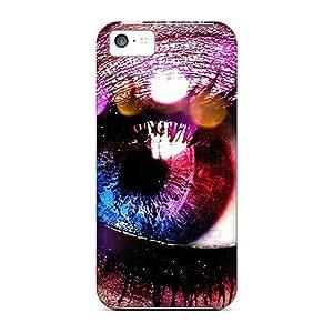 DaMMeke Scratch-free Phone Case For Iphone 5c- Retail Packaging - Colorflu Eye