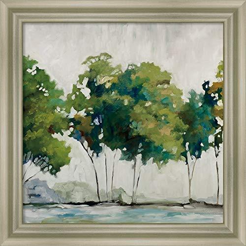Canvas Art Framed 'Late Summer Trees' by Jacqueline Ellens ()