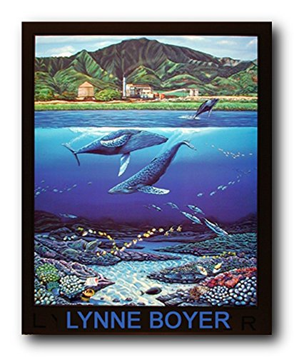 Tropical Whale U0026 Dolphins Underwater Coral Reef Wall Decor Art Print Poster  (16x20)
