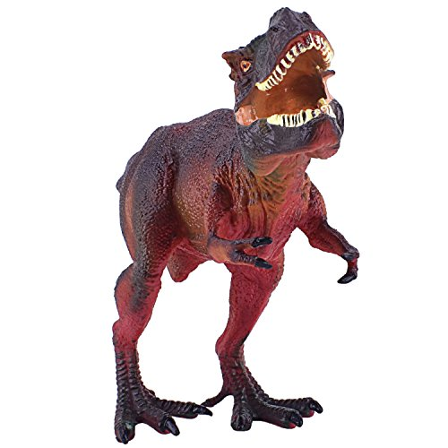 Arfbear Tyrannosaurus Dinosaur toys, TPR material trex toys for party favors (Red (T-rex Toy)