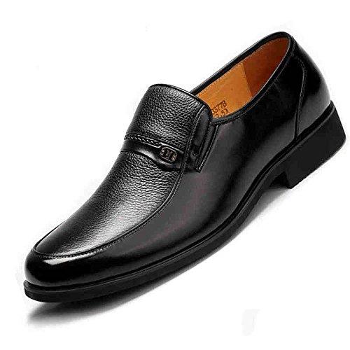 LEDLFIE Herren Kleid Lederschuhe Business Black