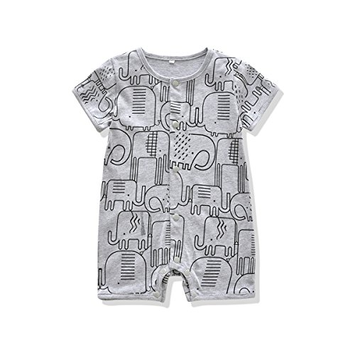 Ferenyi US Baby Boys Clothes Baby's Cute Short Sleeves Cotton Romper (13-18 months, (Cotton Short Sleeve Romper)