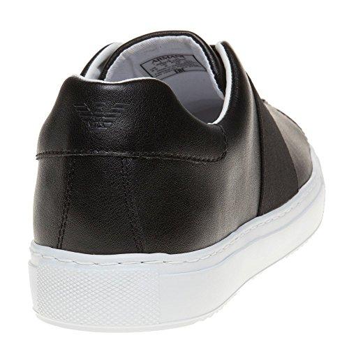 Armani Jeans Chaussures Sangle Croix Noire Glisser Sur L'homme des prix PROMOS remises en ligne 8loKjBGQc7