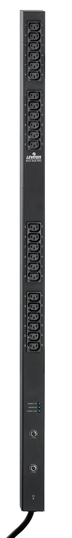 Leviton P1047-10L Vertical Power Distribution Unit 208 Volt 30 Amp NEMA L6-30P Locking Plug Type, 24 Receptacles with 10 ft. Power Cord, Black by Leviton B003AU3L0S