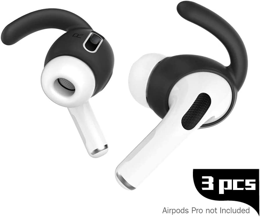 Alquar 3 Pairs Airpod Pro Ear Hooks, Anti-Slip Ear Silicone Covers Accessories Compatible with Airpods Pro Ear Tips 2020