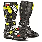 #1: Sidi Crossfire 3 TA Off Road Motorcycle Boots White/Black/Flo Yellow US10/EU44 (More Size Options)