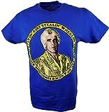Freeze Ric Flair Wheelin Dealin Kiss Stealin Jet Flyin WWE Mens Blue T-Shirt -XL