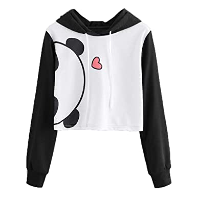 0778e365 Cute Womens Sweatshirt,KIKOY Girls Long Sleeve Hoodie Tops Pullover Blouse  Sale