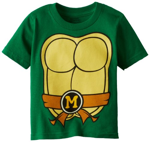 Teenage Mutant Ninja Turtles Little Boys' Toddler Costume T-Shirt, Kelly Green, 2T (Toddler Ninja Costume)