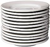 Crestware Alpine White Rolled Edge 6-Inch Saucer, 12-Pack