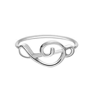 Gold Silver Treble Clef Ring Selectable Music Musical Note Rings Song  Jewelry for Women Christmas Party 65e54bea87c7