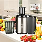 Juicer Extractor for Apple Orange Lemon, FCH Multi-Function Juicer Fruit Vegetable Juice Extractor Premium Food Grade Stainless Steel Kitchen Home Use 800W 110V