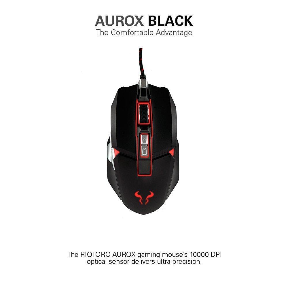 Mouse Gamer : RIOTORO AUROX con RGB Multicolor Lighting [BLA