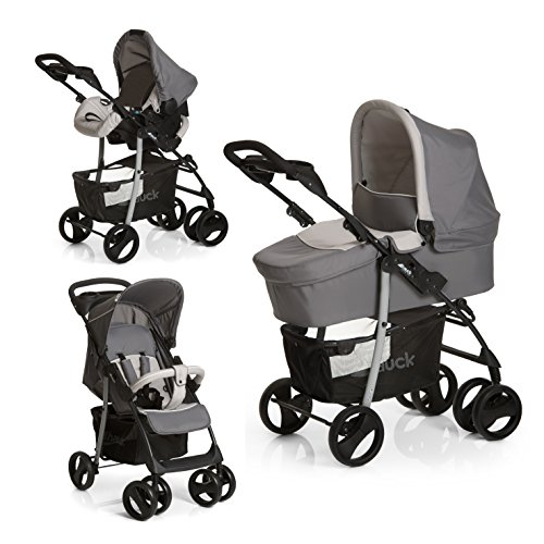 hauck shopper slx trio set lightweight travel system from birth grey car seat carrycot and. Black Bedroom Furniture Sets. Home Design Ideas