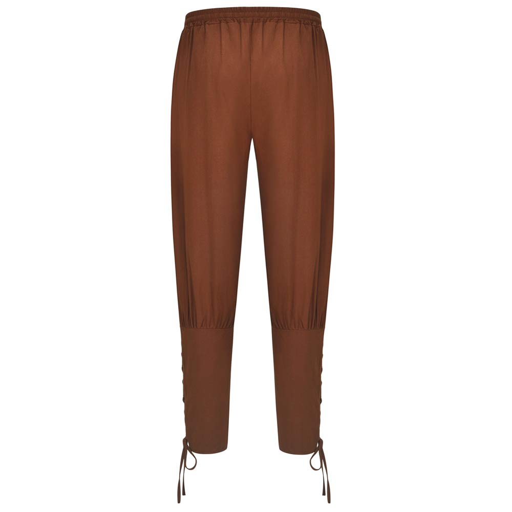 Sex icon Mens Ankle Banded Pants Medieval Viking Navigator Pirate Costume Trousers Renaissance Gothic Cosplay Pants
