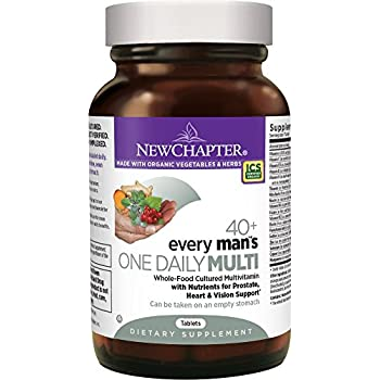 New Chapter Every Man's One Daily 40+, Men's Multivitamin Fermented with Probiotics + Saw Palmetto + B Vitamins + Vitamin D3 + Organic Non-GMO Ingredients  - 72 ct