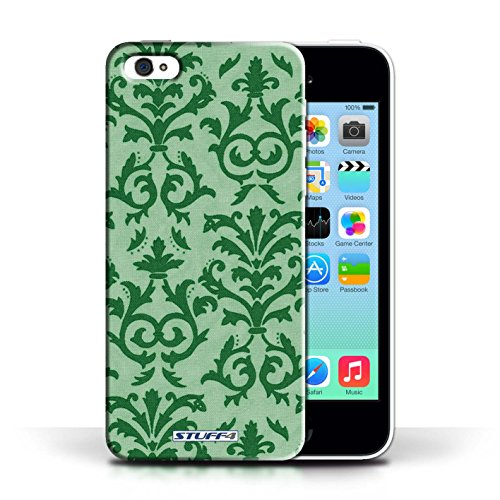Etui pour Apple iPhone 5C / Vert conception / Collection de Motif de défilement