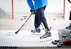 This amazing synthetic ice starter kit has an ice-like feel like no other product on the market. It allows the young hockey player to work on shooting and stickhandling skills while wearing skates. A perfect way to practice the fundamental me...
