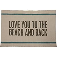 Primitives by Kathy Reversible Rug Love You To The Beach And Back Ocean Breeze
