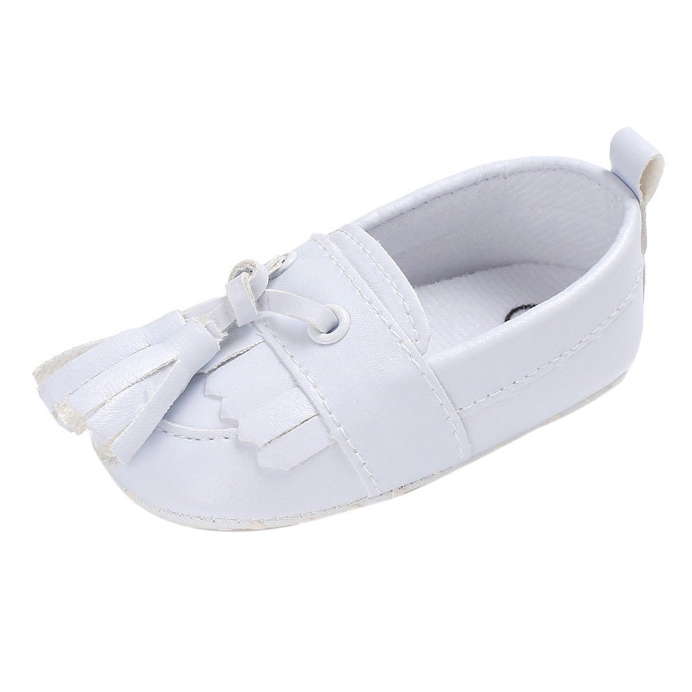 Lanhui Newborn Leather Crib Soft Sole Shoe Sneakers Baby Shoes Boy Girl Shoes White