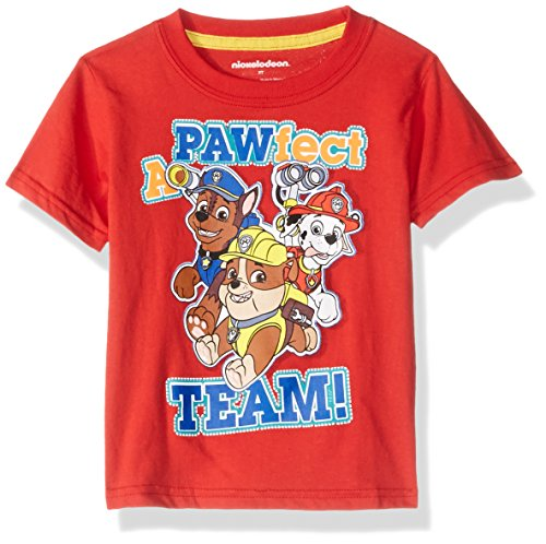Price comparison product image Nickelodeon Toddler Boys' Paw Patrol T-Shirt,  Apple Red,  3T