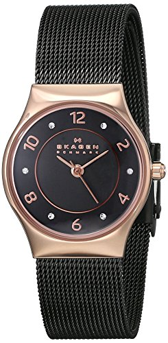 Skagen Women's SKW2270 Grenen Rose-Tone Stainless Steel Watch with Crystal Accents