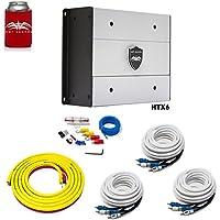 Wet Sounds HTX6 Package: 900 watt 6-channel amplifier & Stinger 3-Meter 4-Gauge Amplifier Wiring Kit w/RCAs