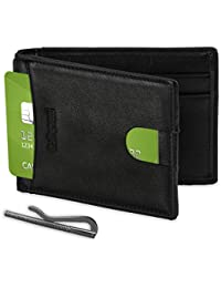 Vegan Slim RFID Front Pocket Money Clip Wallet Card Holder