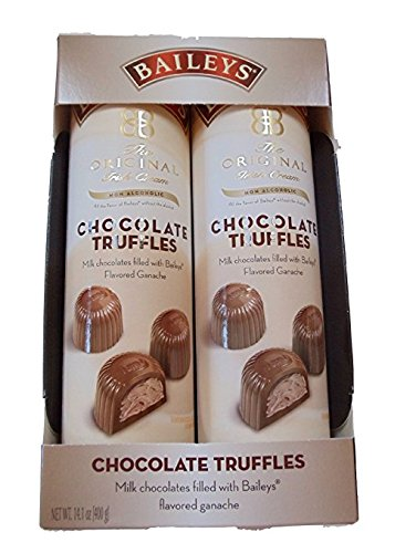 Baileys Irish Cream NON-ALCOHOLIC Chocolate Ganache Truffles (2 Pack) - (2) 7oz Tubes - If you like Baileys, you'll LOVE these | Makes a perfect holiday gift for your chocolate-loving friend!
