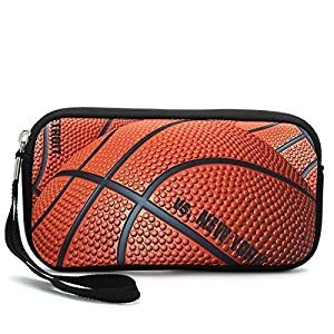 iColor Basketball Coin Change Purse Key Holder Pouch Wallet Cell Phone Case Camera Case Cosmetic Cash Bag for Women Girls (Basketball)
