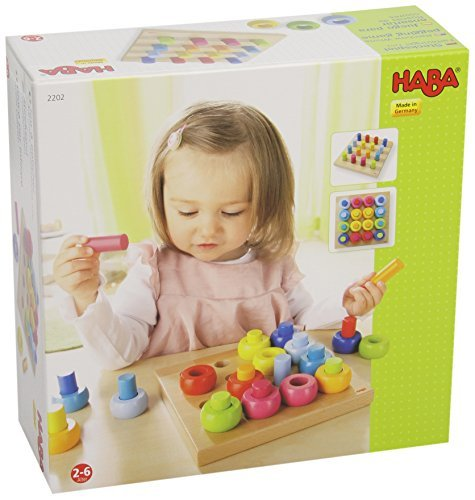 Haba Rainbow Whirls Pegging Game by Haba