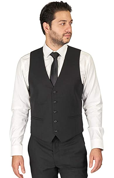Amazon.com: Azar Man de hombre Slim Fit traje chaleco correa ...