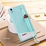 Fabitoo® Lenovo S850 case, 3D Cute Cartoon Silicone Back Cases Covers for Lenovo S850 (Silicone Green)