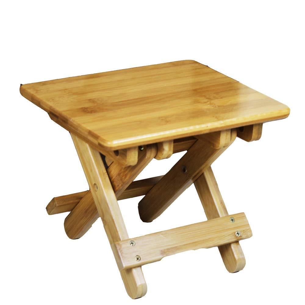 XIA 折り畳みテーブル バンブー実用チャイルドフォールド小さなスクエアベンチ家庭用3サイズチェア ワークベンチ (サイズ さいず : 28.5cm) 28.5cm  B07KDMB7MZ